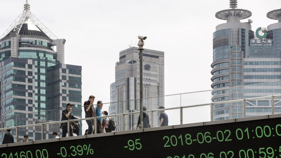 China And Hong Kong Stocks Slide With Shanghai Composite Index
