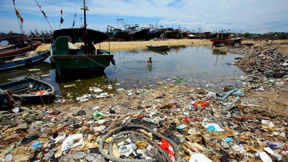 Asian polluted sea