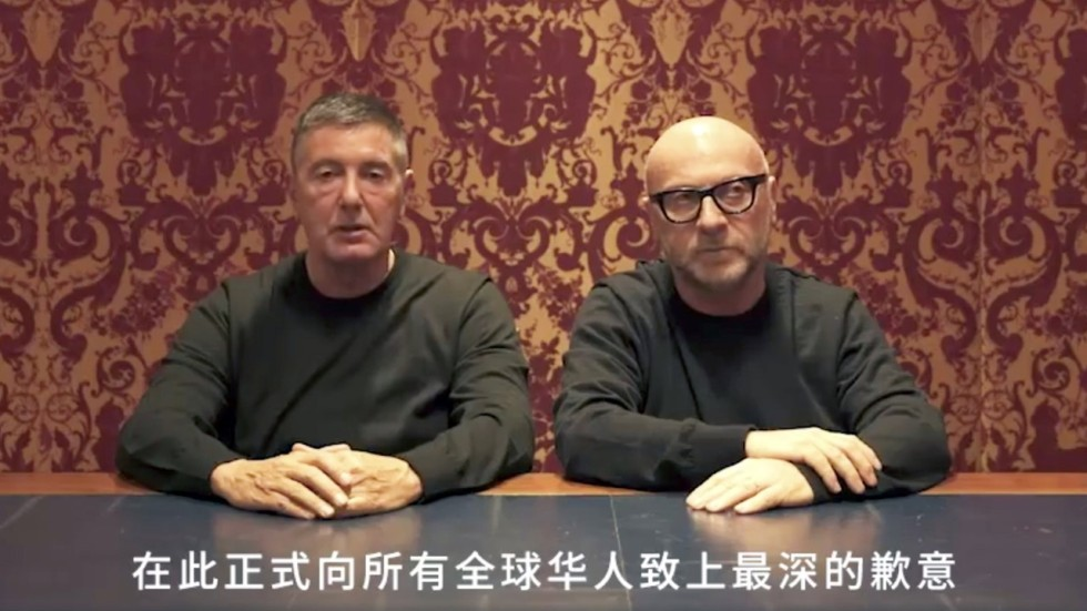 Dolce   Gabbana founders ask Chinese people for forgiveness after  racist  outburst  d3db07ef9c77
