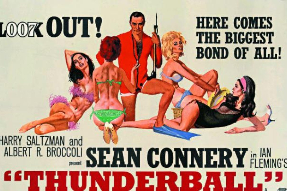 A poster for Thunderball from the Imperial War Museum exhibition in 2009.