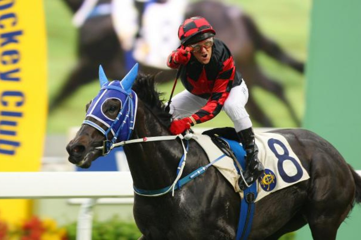 Brett Prebble enjoys his birthday on Calling With Love but his celebration was short-lived when stewards handed him a two-day careless riding ban in the last event. Photo: Kenneth Chan
