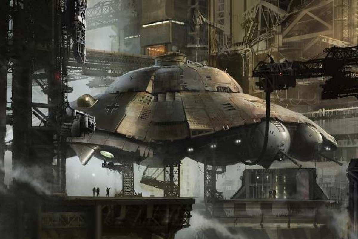 Concept art for ''Iron Sky'' by Jussi Lehtiniemi.