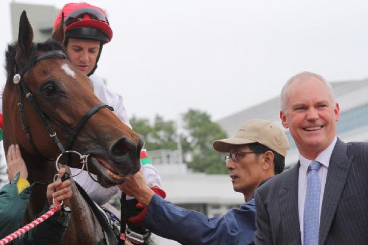 Brett Prebble and David Hall get one home with Berlinski. Photo: Kenneth Chan