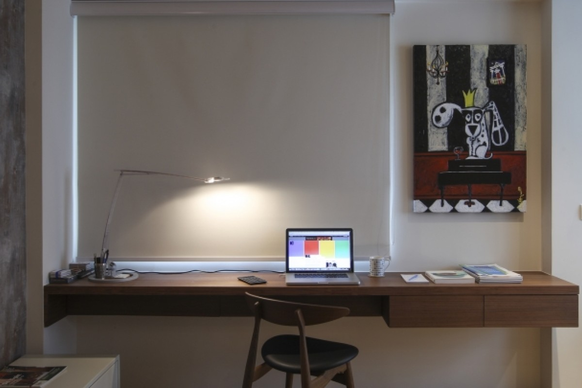 Study: The desk was made by Kin Ling for HK$6,500. The Carl Hansen chair came from Aluminium and cost HK$5,100. The Belux work lamp was bought years ago at Magazzini (Ruttonjee Centre, 11 Duddell Street, Central, tel: 2521 3282). The art on the wall was a gift.