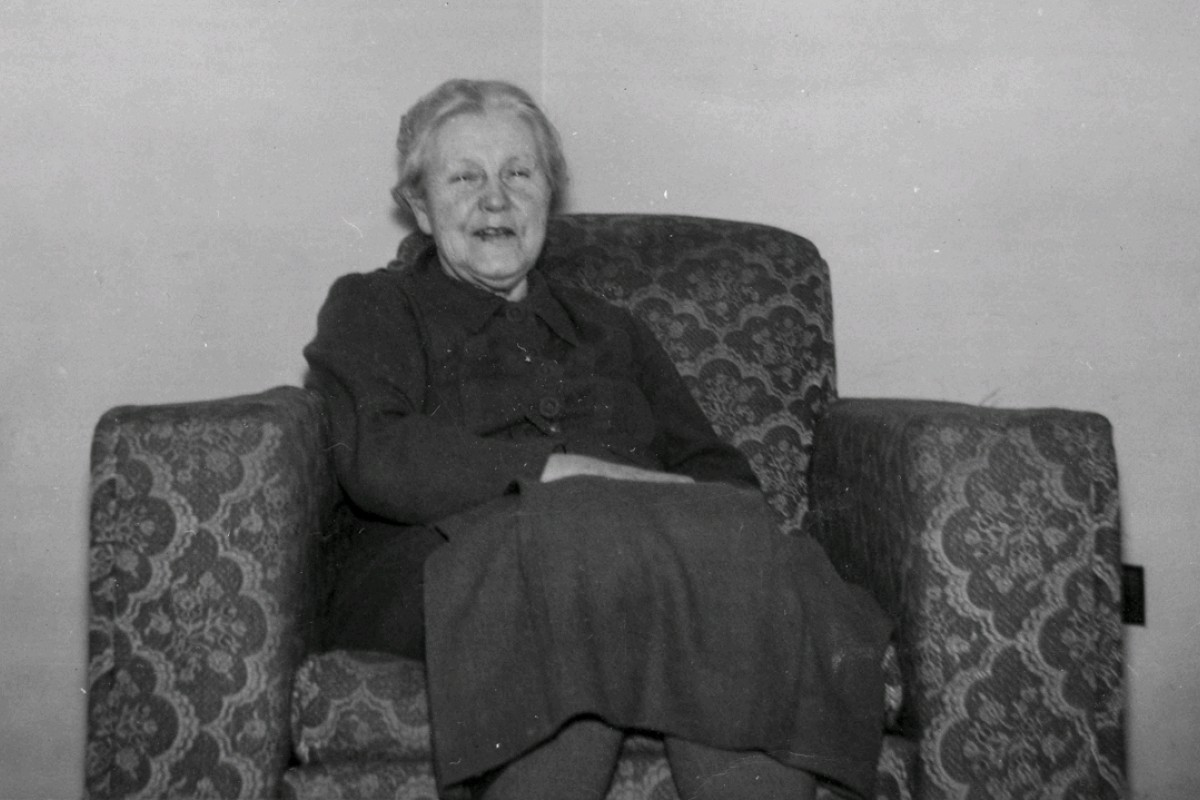 """A photograph taken in 1950 shows Mary Emelia Moore, who, in 1921, took charge of """"waifs"""" Clara and Isobel, in the latter's New York apartment. Photos: Polly Shih Brandmeyer; Peter Simpson; Michael Gilliam/National Maritime Museum Library"""