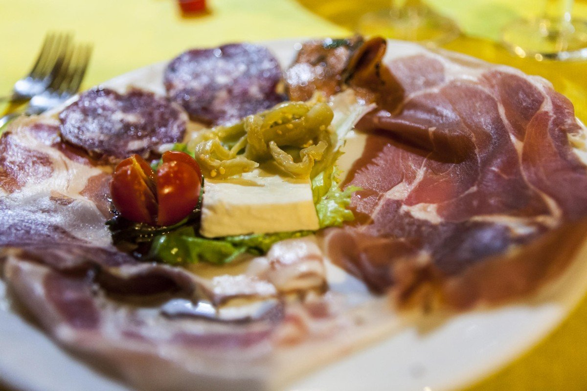 A plate of antipasto served at Villa Maria.