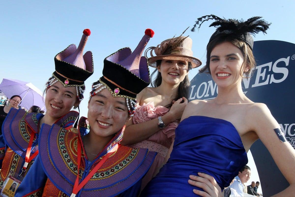 Mongolian traditional dresses and western fashions. Photo: David Wong