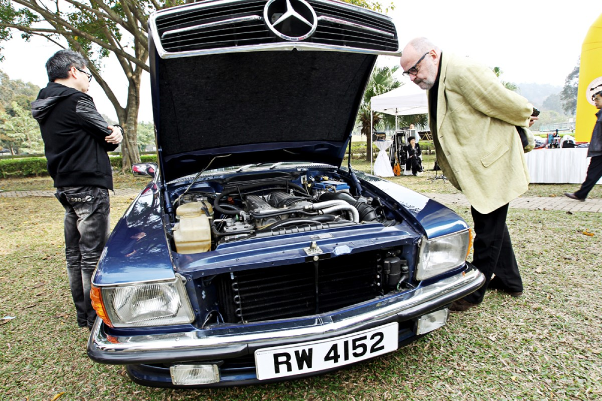 1980 Mercedes- Benz 280SLC being auctioned for charity during the annual luncheon.