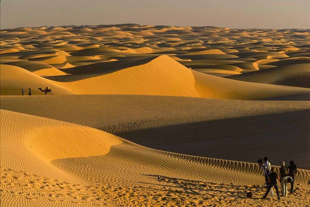 The dunes of Chinguetti, Mauritania, on the same trip.