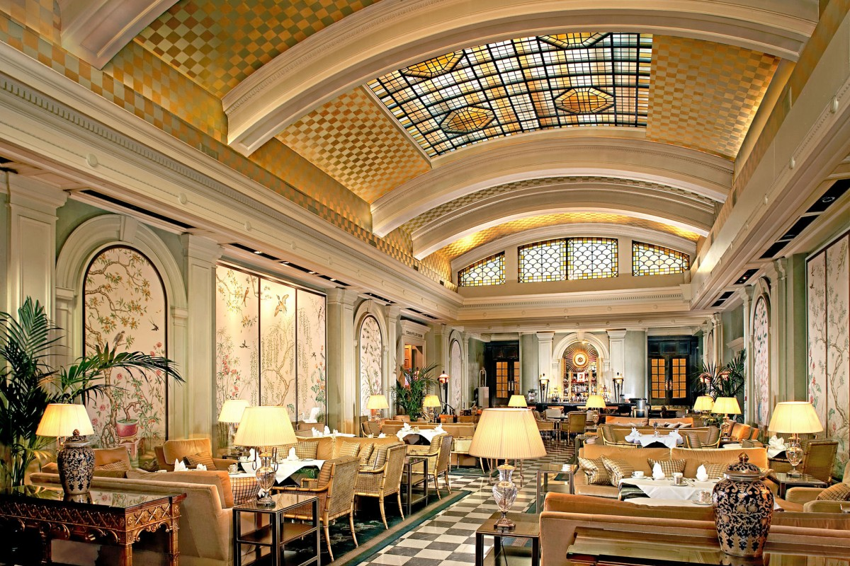 The Palm Court Restaurant at the Park Lane Hotel in London.