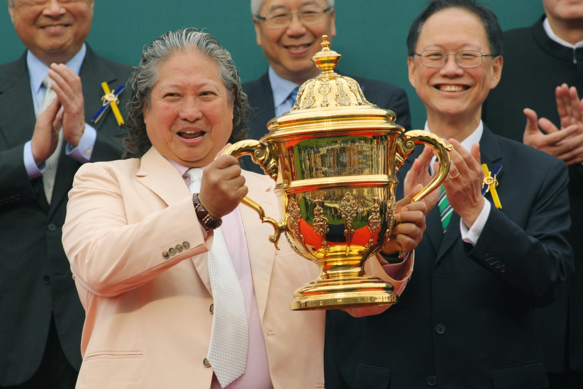 Amber Sky's owner Sammo Hung with the Centenary Sprint Cup. Photo: Kenneth Chan