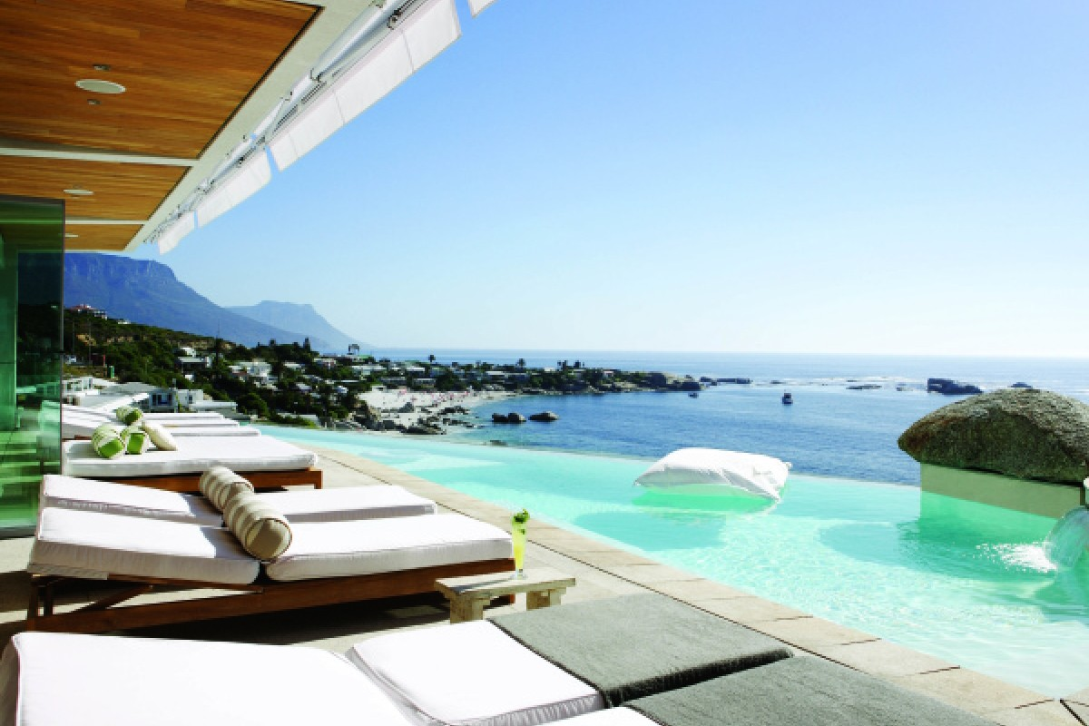 The magnificent sea views at Molori Clifton, Cape Town. Each of Lazarus' Molori properties is thoughtfully designed.