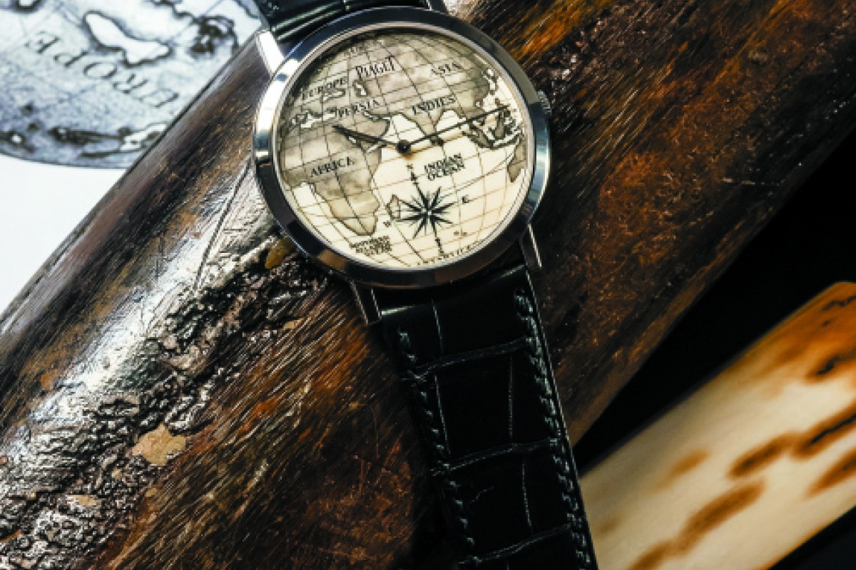 Piaget's Altiplano dial is made of mammoth tooth that has been engraved using the scrimshaw technique.