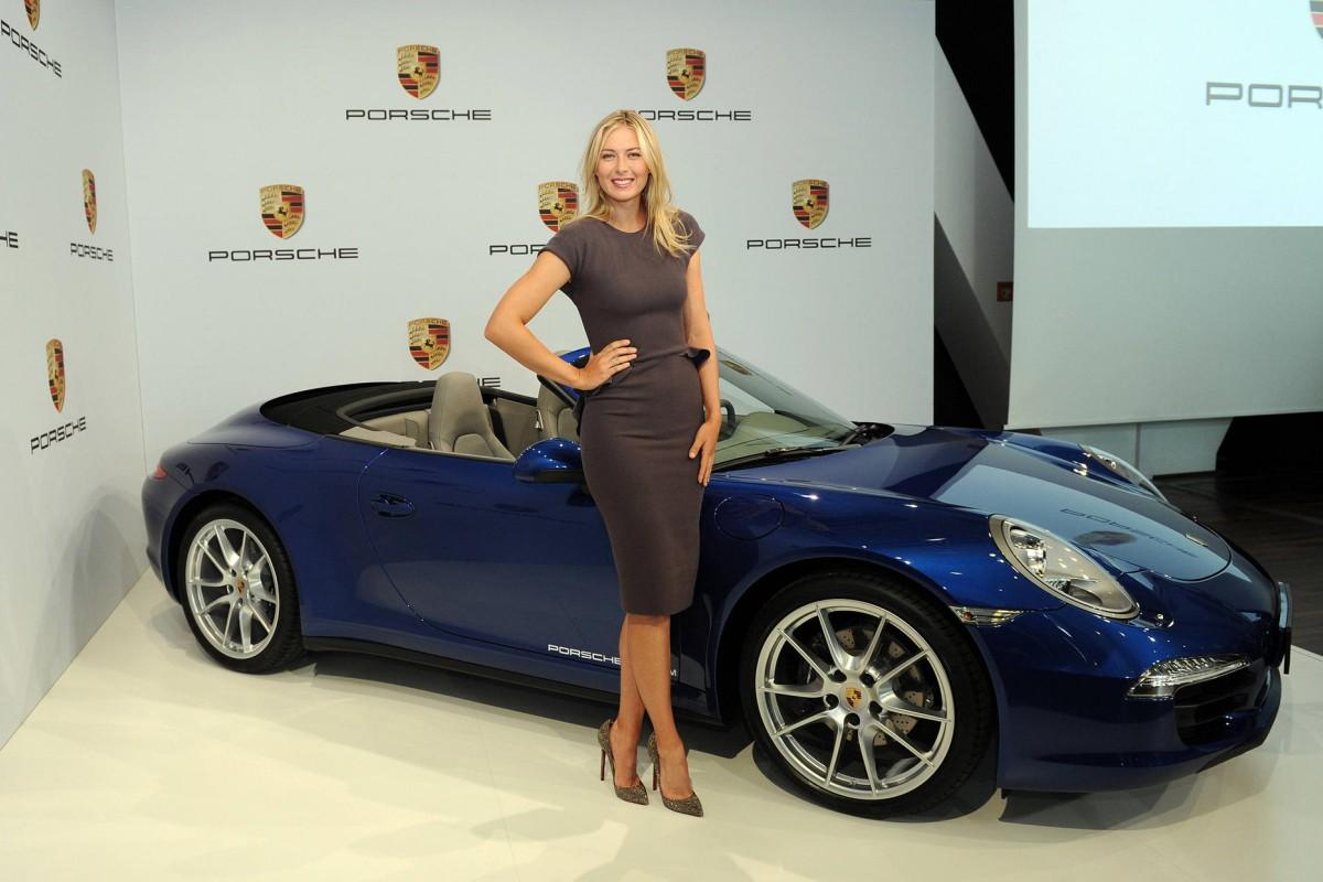 Tennis star Maria Sharapova is the brand ambassador for Porsche.