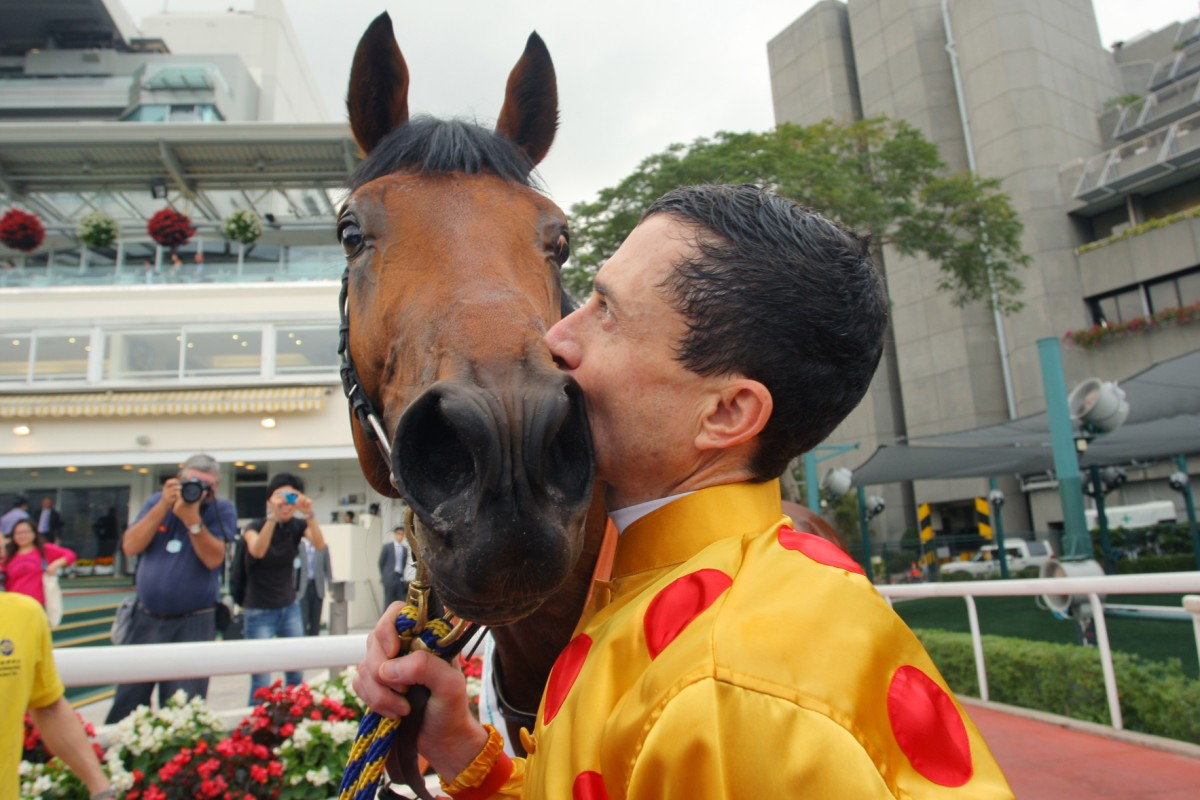 Douglas Whyte partnered Akeed Mofeed to all four of his Hong Kong wins, including the Hong Kong Cup and the Hong Kong Derby. Photo: Kenneth Chan