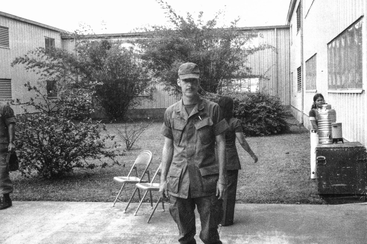 Lawrence Johnson, a member of the Command Military Touring Show, in Saigon, in 1972.