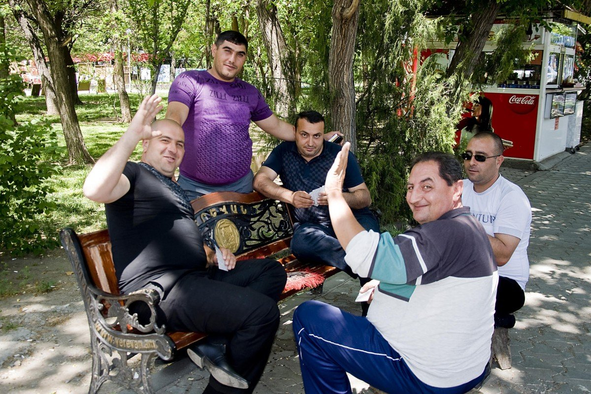 Yerevan taxi drivers.