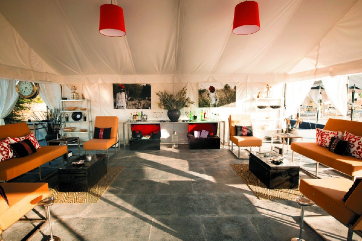 The trendy interior of the Jawai Leopard Camp