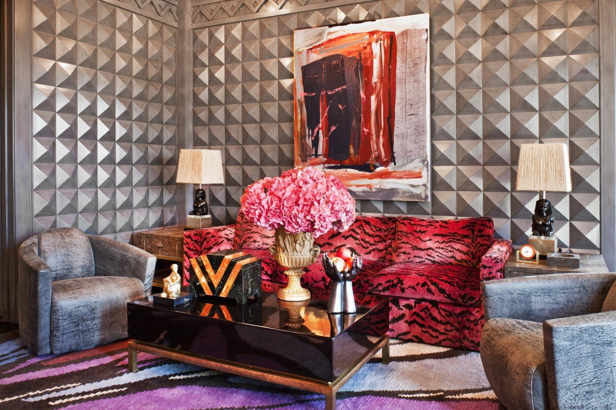 Layers Of Colour And Texture In The Family Room At The Bellagio Residence  In Bel Air