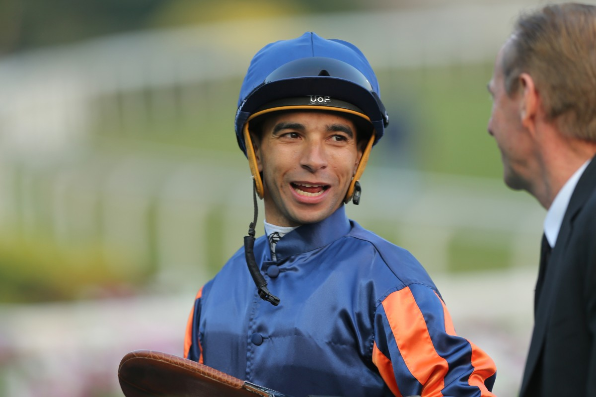 Joao Moreira will take his rivalry with Zac Purton to another level in a sideshow event during the Longines Hong Kong Masters showjumping tournament. Photo: Kenneth Chan