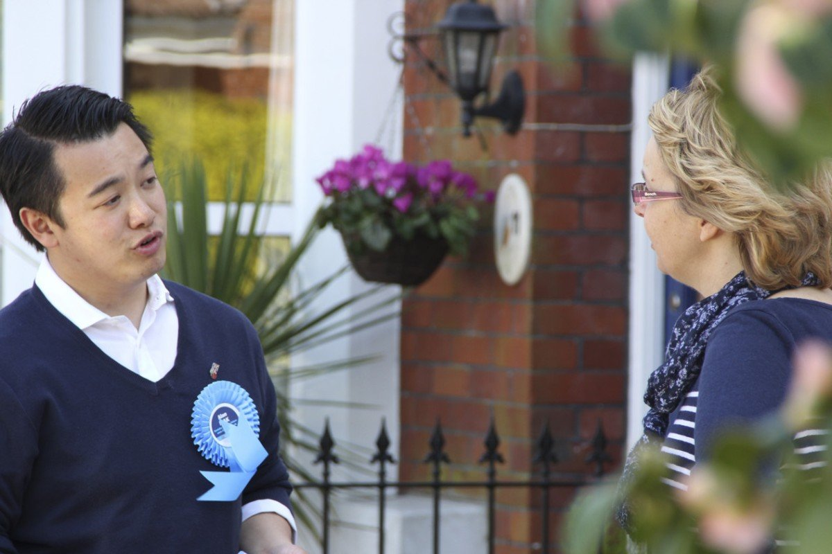 Conservative candidate Alan Mak canvasses constituents in the safe seat of Havant.