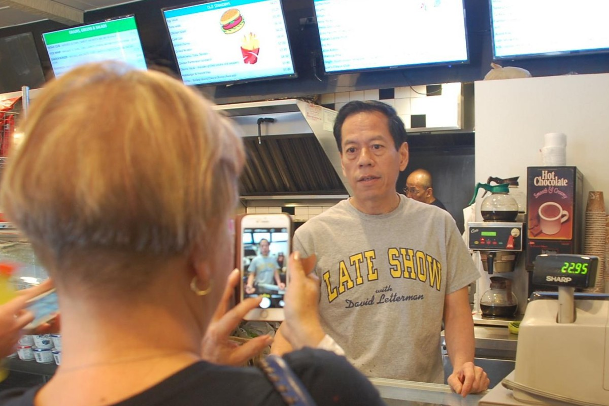 Rupert Jee in his Hello Deli, next to New York's Ed Sullivan Theatre. Photo: Xiaoqing Rong