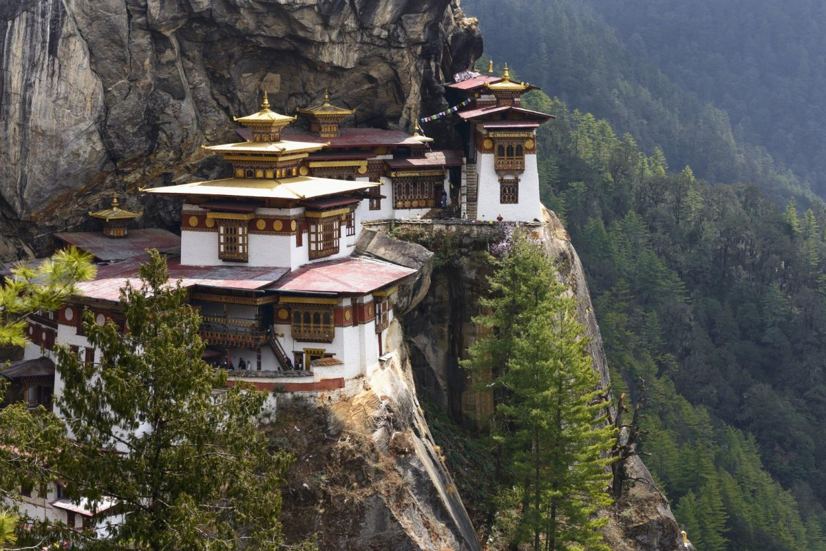 The Tiger's Nest Temple, at Paro, in Bhutan. Photos: Corbis; Dinah Gardner; AFP