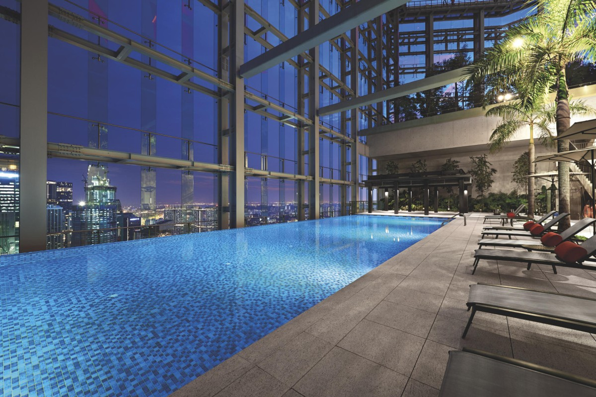 The pool at Singapore's Gravity fitness club.