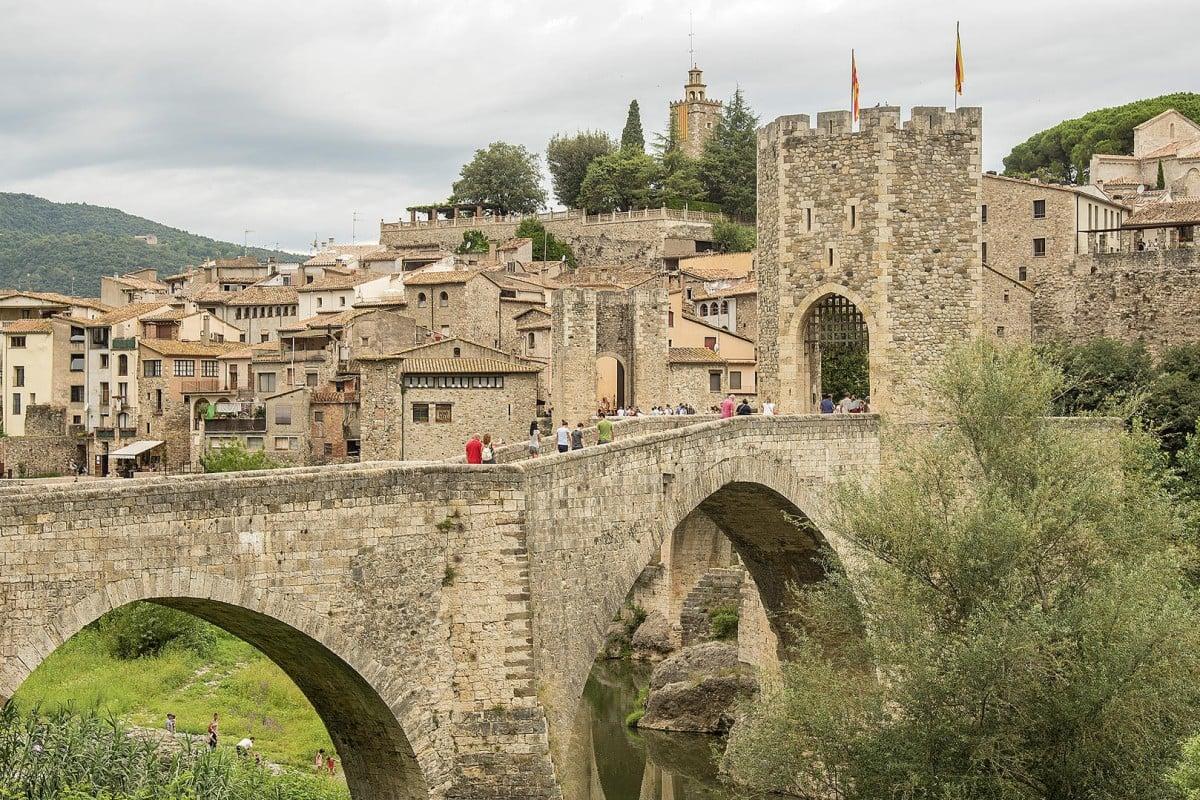 The Romanesque bridge of Besalú, Catalonia.