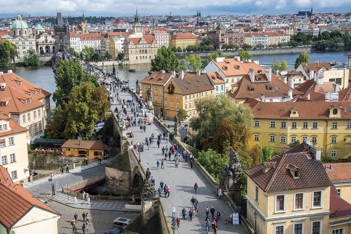 Charles Bridge, in Prague, Czech Republic.