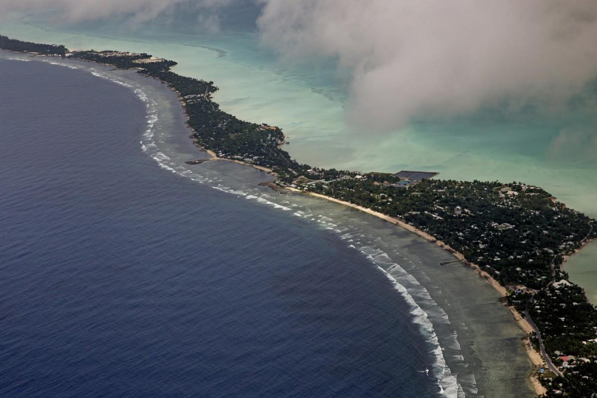 Tarawa, the capital of Kiribati.