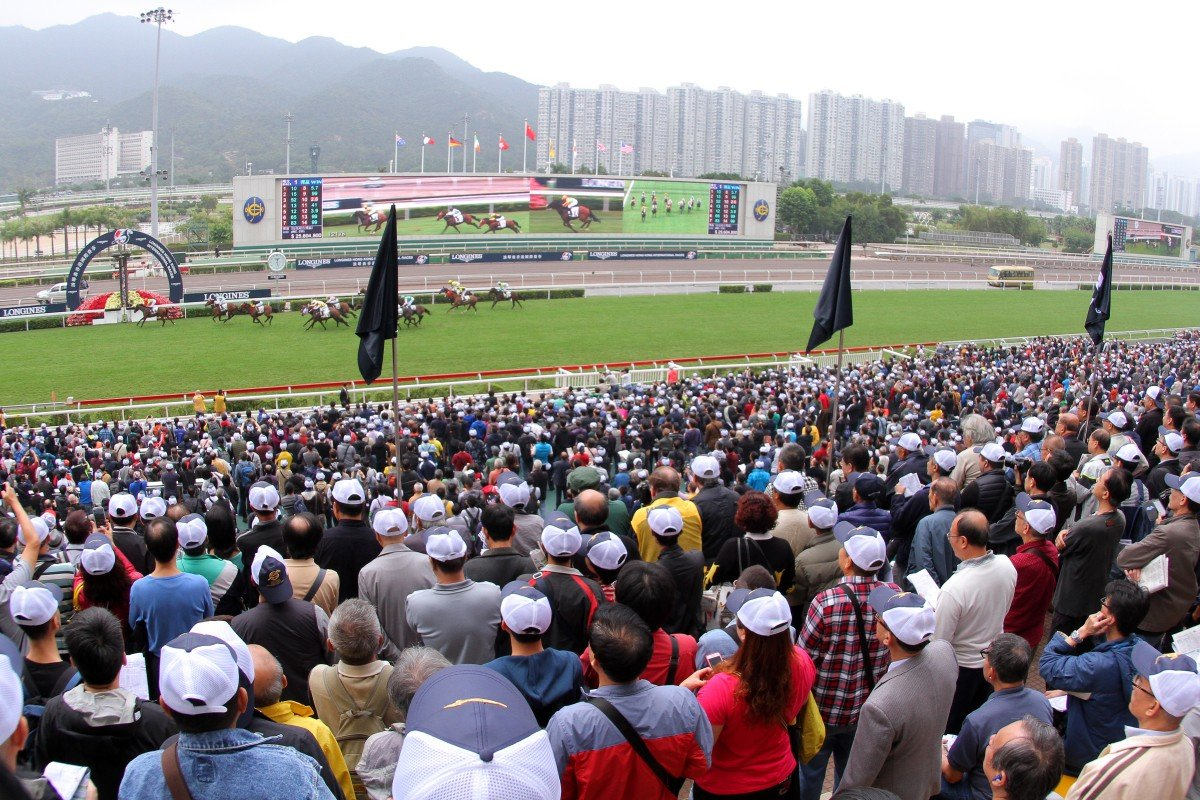 The crowd flocked to Sha Tin early, with standing room hard to come by from race three.