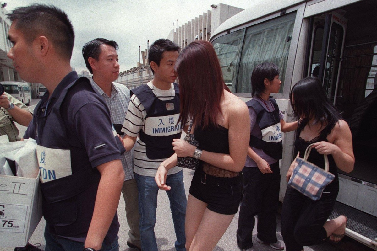 Sex workers from the mainland are apprehended in Hong Kong. Photo: SCMP