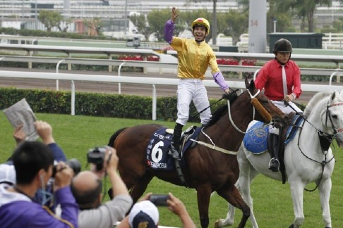 Peniaphobia was the star of the show in the Hong Kong Sprint and can win again. Photo: Kenneth Chan