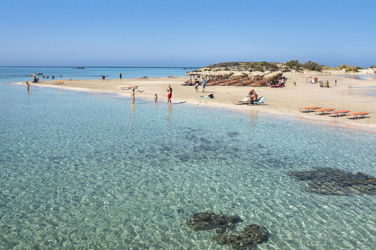 Elafonisi beach, in Crete.