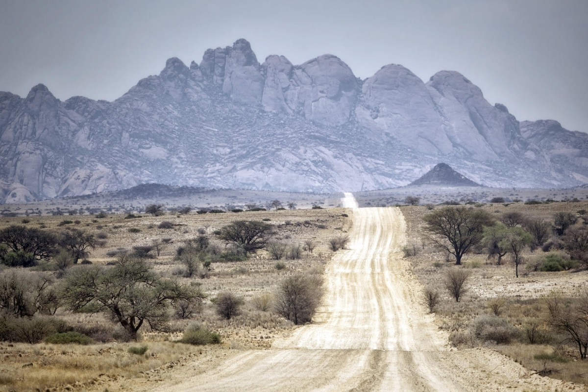 Namibian roads are rough and ready. Photos: Alamy