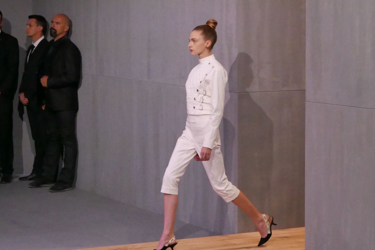 Dior spring-summer 2017 is inspired by the fencing sport. Photos: Vivian Chen