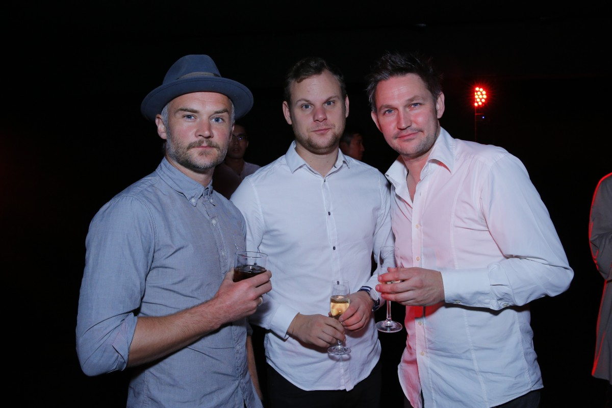 Oliver Lansley, Joseph Hufton and James Seager