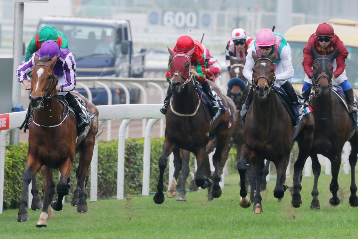 Highland Reel wins the Hong Kong Vase, but post-race, it was left to jockey Ryan Moore to speak to the media, with no Ballydoyle stable representative available. Photos: Kenneth Chan
