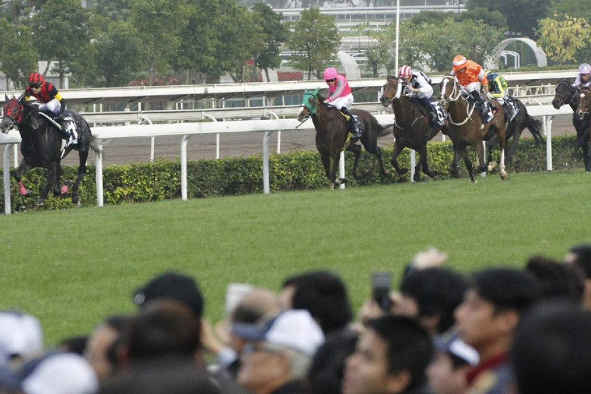 A Shin Hikari races away to win the Hong Kong Cup in front of a large crowd at Sha Tin. Photo: Kenneth Chan