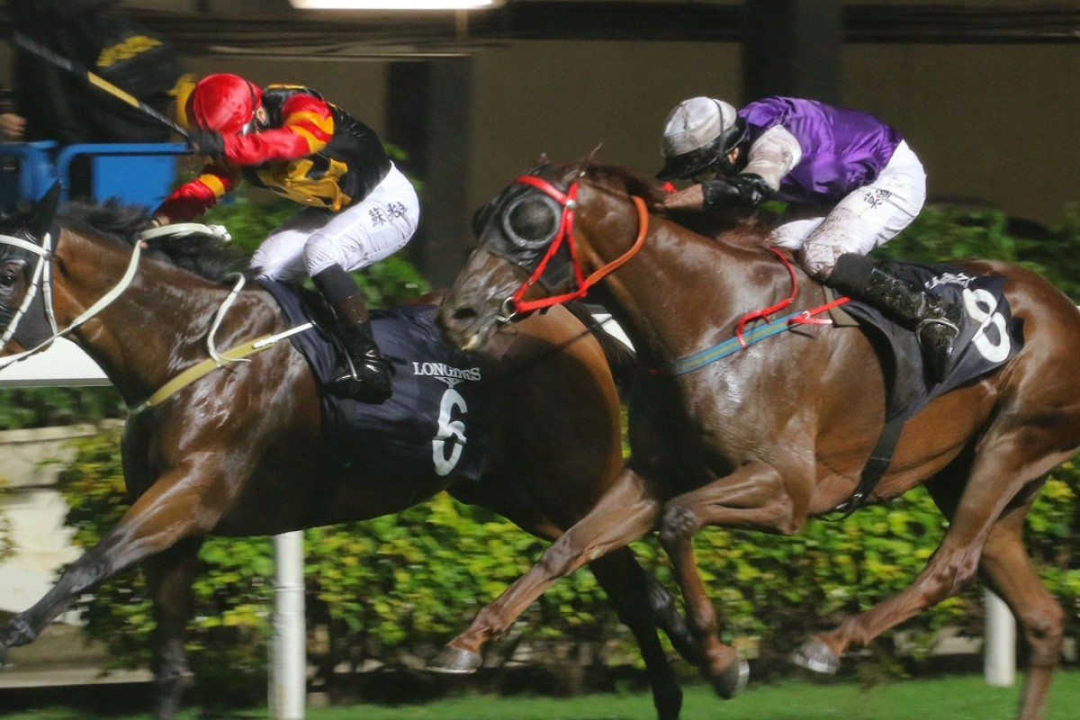 Silvestre de Sousa winning on Happy Spirit at the Longines International Jockeys' Championship at Happy Valley earlier this month. Photo: Kenneth Chan