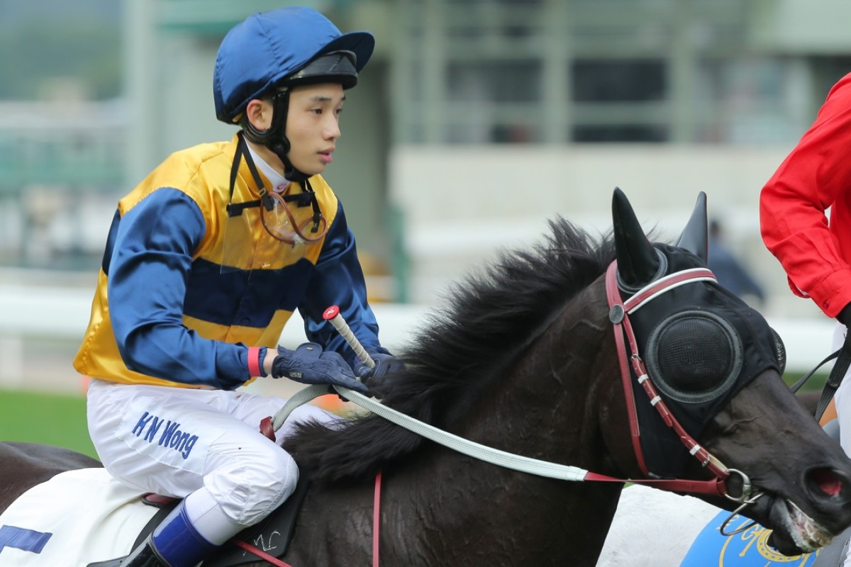 Jack Wong returns on Sea Ruby, a galloper with so many problems that trainer John Moore expressed shock the horse had even made it to the races, let alone won. Photo: Kenneth Chan