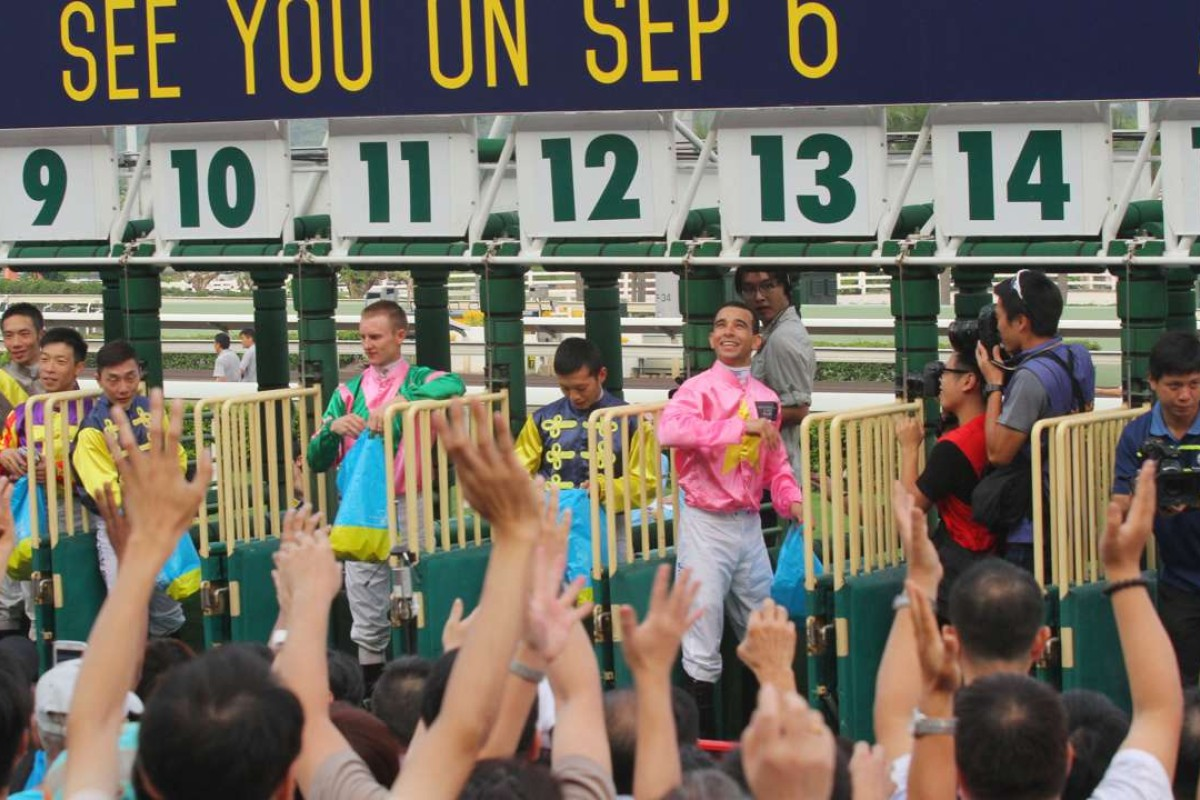 It is a long slog until the last meeting of the season and the annual jockeys' parade after the term's final race. Photo: Kenneth Chan