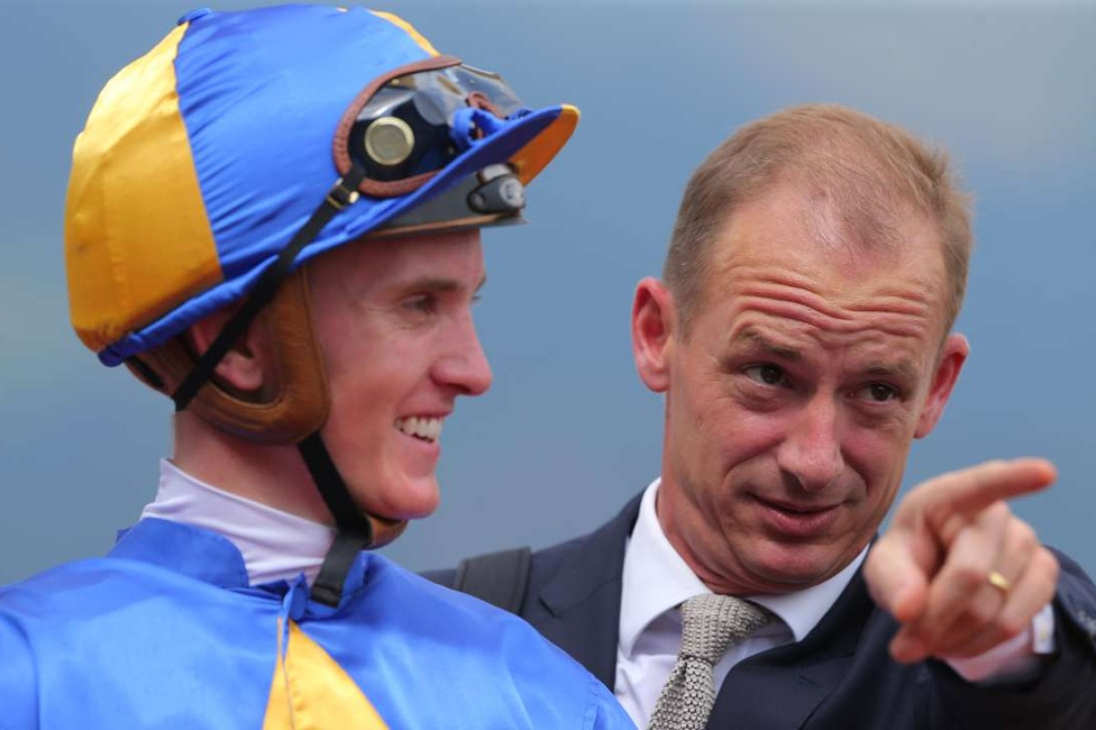 Race 5, Richard Gibson with Chad Schofield won the Swaine Cup(class 4, 1400m) at Sha Tin on 07May16.