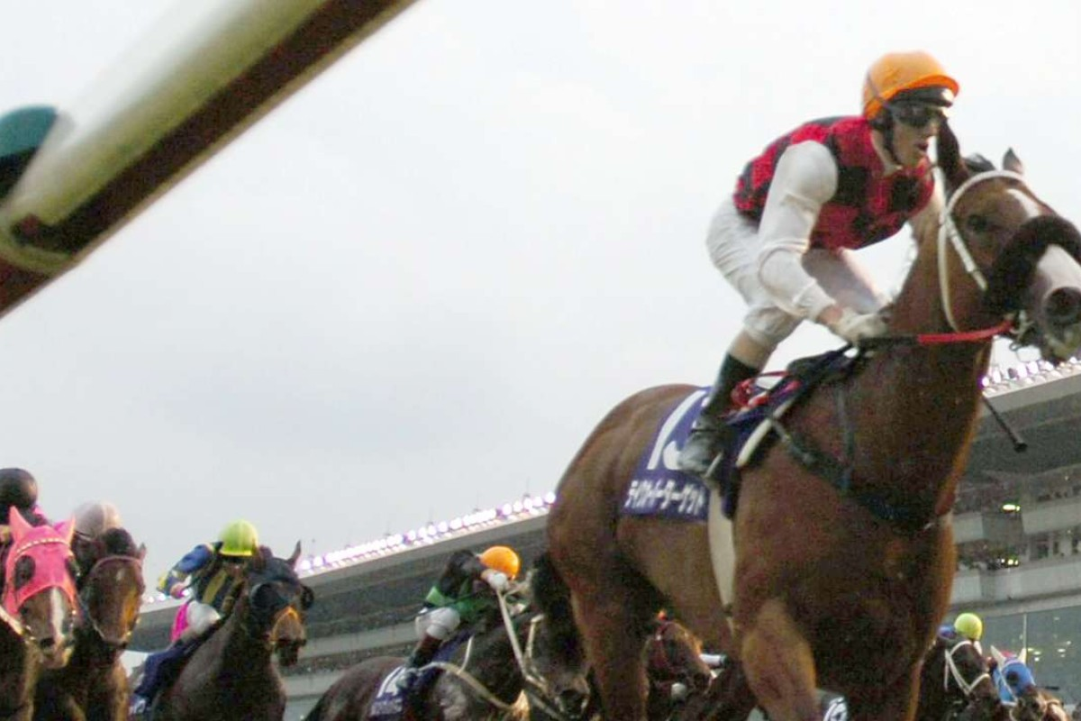 Takeover Target wins the 2006 Sprinters Stakes at Nakayama. A decade on, his namesake is winning turf features in the United States. Photo: AP
