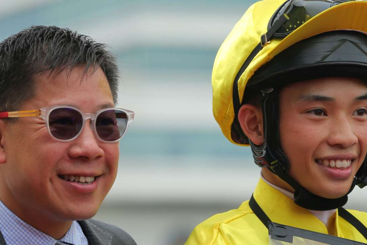 Dennis Yip and Jack Wong celebrate Travel Number One's victory. Photo: Kenneth Chan