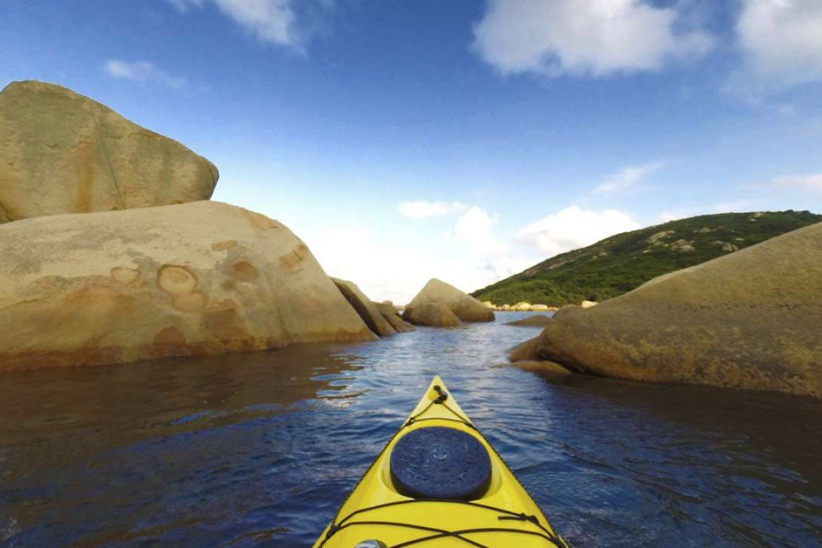 View from a kayak off Lamma Island. Photo: Cameron Dueck.