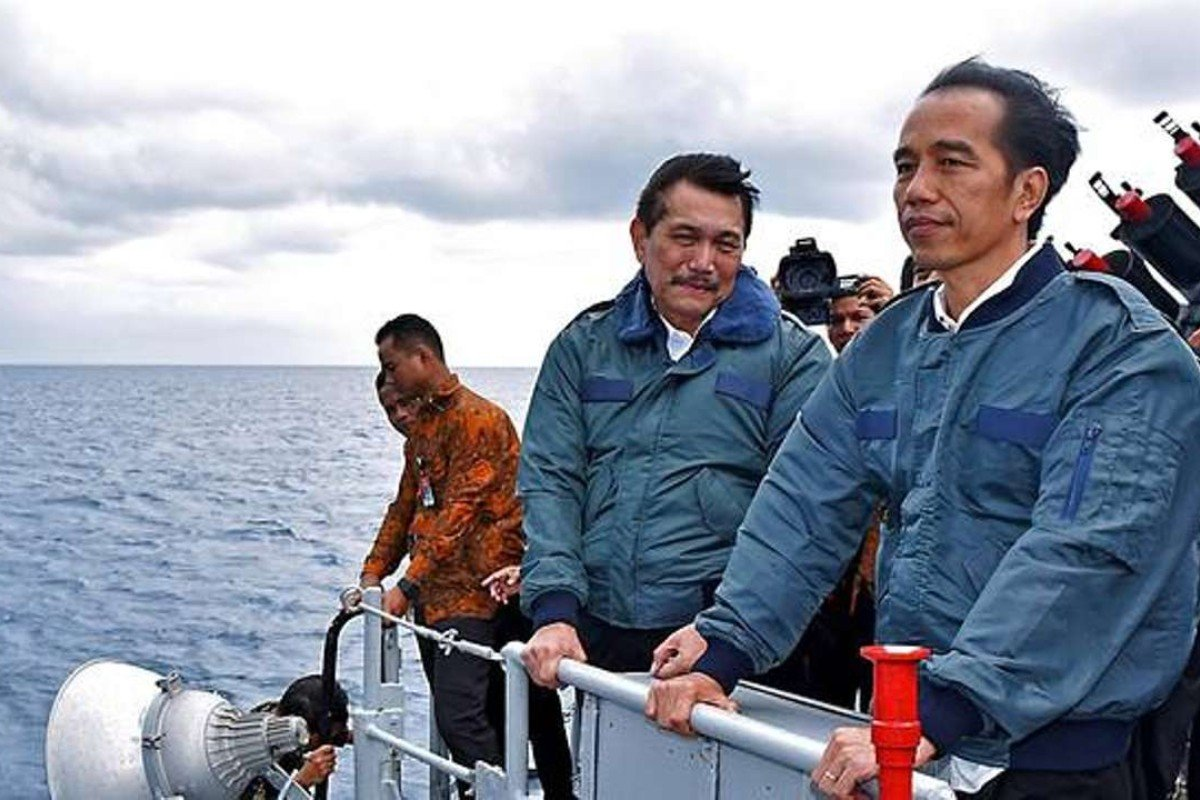 Widodo aboard the Imam Bonjol in the South China Sea. Photo: SCMP Pictures
