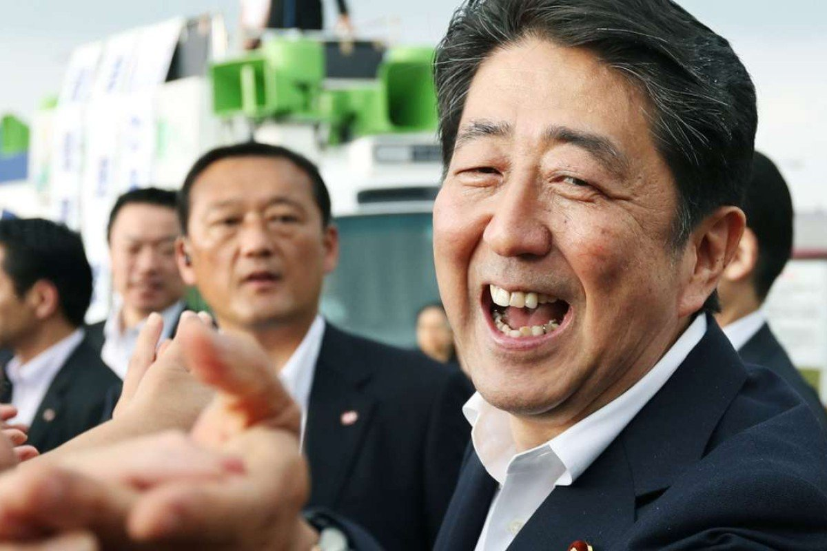 Shinzo Abe, already a popular leader, sought a mandate for boosting Japan's military and political self-reliance. Photo: AP