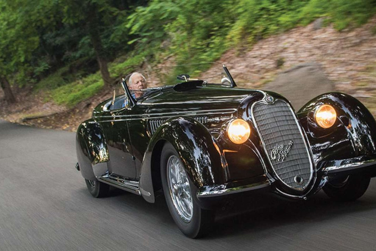 A 1939 Alfa Romeo 8C 2900B was sold for US$19.8 million at a Sotheby's sale in Monterey, US, in August. Photo: Darin Schnabel, courtesy of Sotherby's